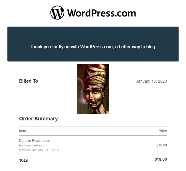 wordpress domain renewal